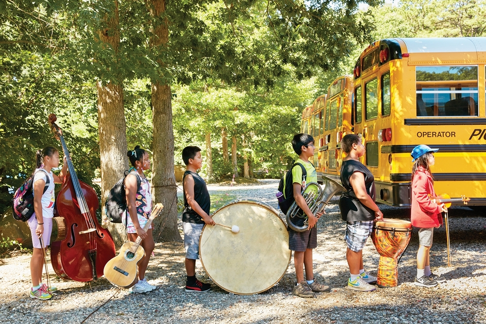 Campers at Usdan Summer Camp for the Arts can choose from a diverse selection of classes within the departments of art, music, dance, theater, chess, writing and nature. Photo courtesy of Usdan Summer Camp for the Arts.