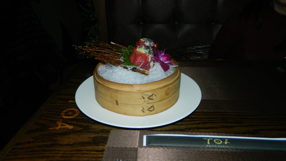 King crab tuna dumplings stand out not only because of their taste, but presentation.