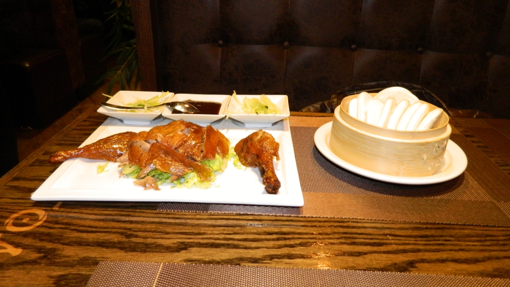 Pan-roasted Peking duck.