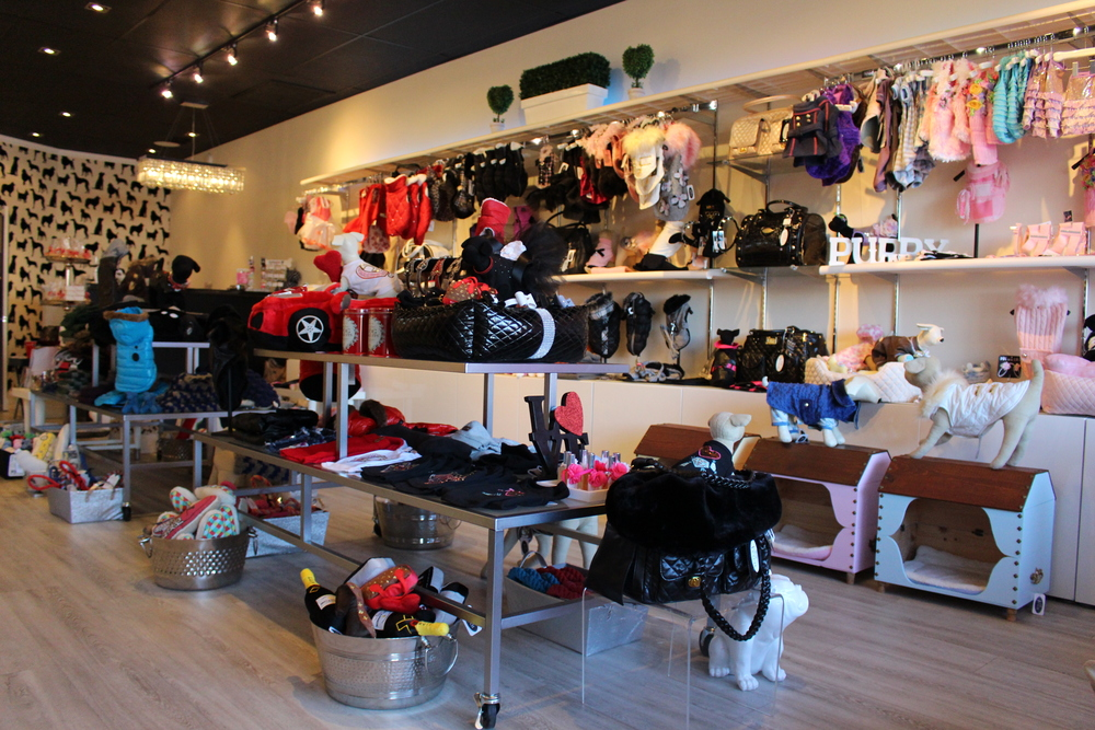 Fetch in Huntington strictly sells clothing and apparel for dogs, including jackets, toys, dog dishes and tutus and bows for special occasions.