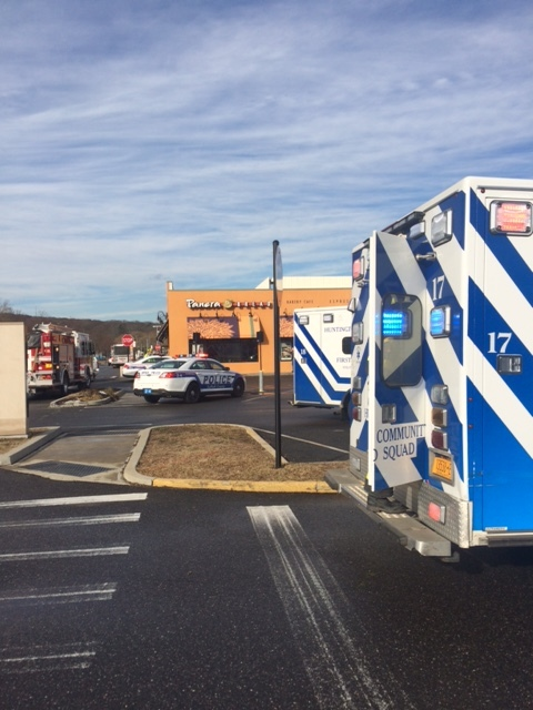 Suffolk police said seven carbon monoxide poisonings were reported Wednesday morning at the Panera Bread in the Walt Whitman Shops on Walt Whitman Road in Huntington Station. Photo by Huntington Community First Aid Squad
