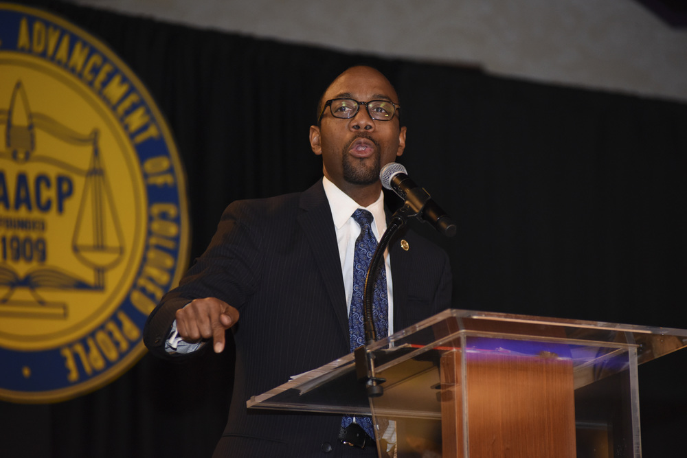 NAACP is as relevant today as ever, national NAACP president and CEO Cornell William Brooks said at a weekend luncheon.