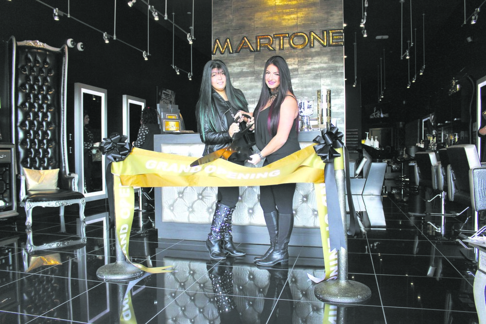 Dix Hills sisters Lexi and Bria Martone opened up their own salon, Salon Martone at 1931 Jericho Turnpike in East Northport, with a ribbon-cutting ceremony on Monday.