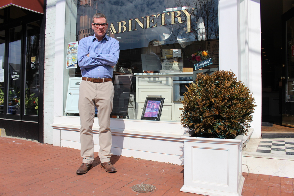 Keith Stark, owner of Home Pro Cabinetry in Huntington village, offers customers a personal boutique style when renovating their kitchen.