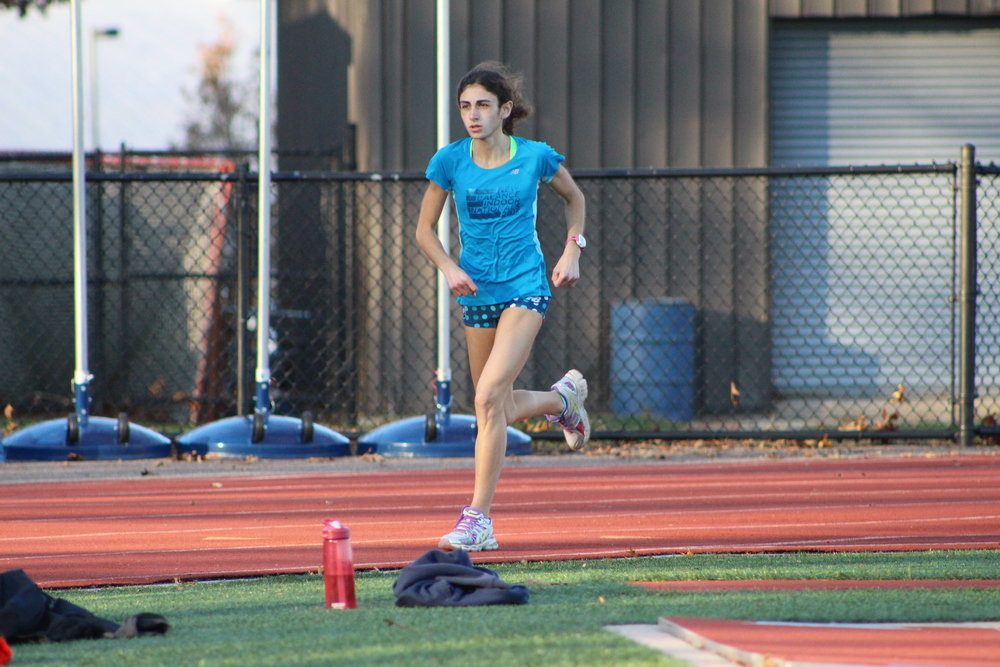 Daniela LoCastro, a Cold Spring Harbor High School senior track star, finished 13th in the nation in the girls 5000-meter run during the 2016 New Balance Nationals Indoor championship in Manhattan last weekend.