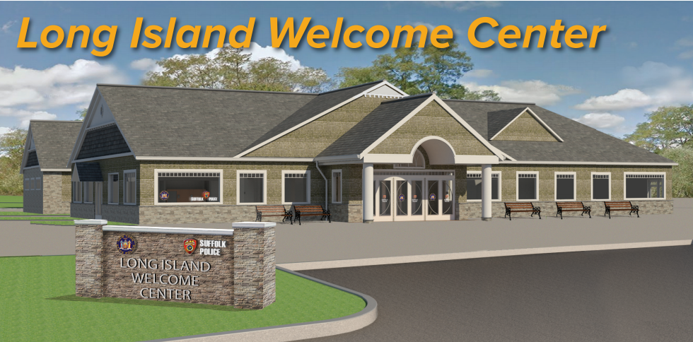 The New York State Department of Transportation is moving forward with plans to create a rest stop between Exit 51 and Exit 52 on the Long Island Expressway in Dix Hills. The proposed 15,200-square-foot structure, shown above in a rendering, is 27 feet high. Rendering provided by Gary Holmes