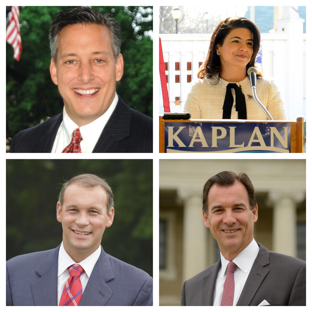 Pictured: Jon Kaiman (upper left), Anna Kaplan (upper right), Steve Stern (lower left), and Thomas Suozzi (lower right).