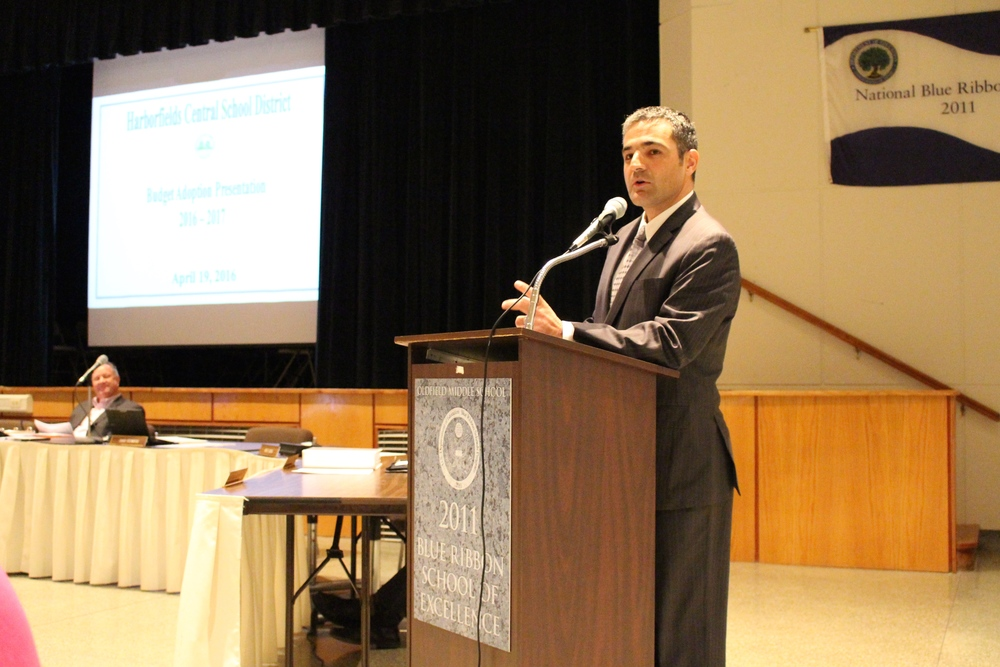 Harborfields Assistant Superintendent for Administration and Human Resources Francesco Ianni said he supports the district's cap-piercing $82.85 million school budget, which was approved Tuesday night.