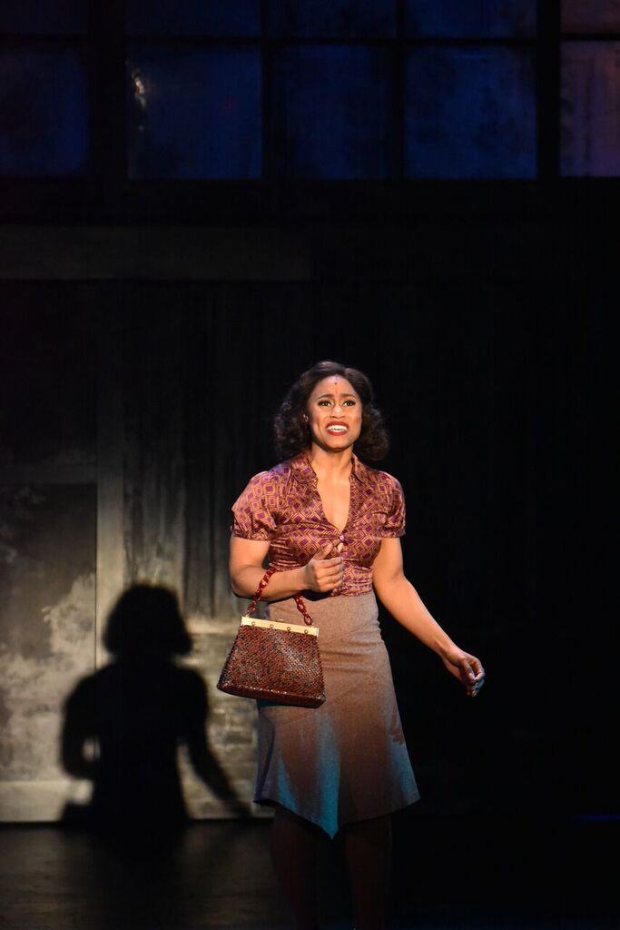 "Breanna Bartley gives an emotional performance singing ""Colored Woman"" in the John Engeman Theater's production of ""Memphis."""
