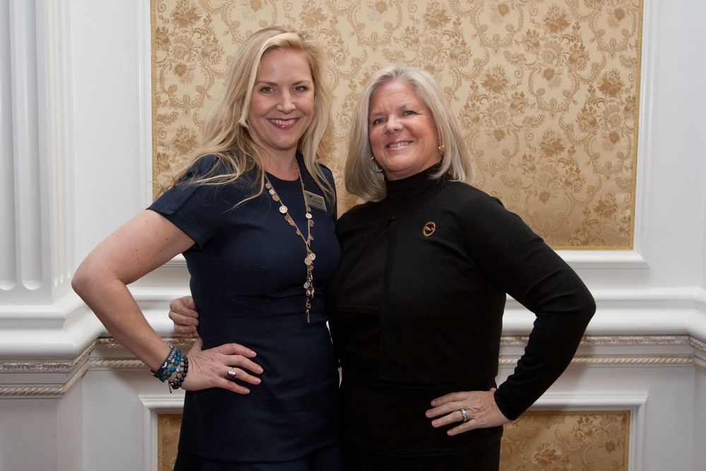 Daniel Gale Sotheby's International Realty Marketing Director Abby Sheeline, left, and Regional Manager Deborah Hauser have organized a May 14 benefit at The Paramount for the Save the Children Long Island Council. Both Hauser and Sheeline are also Save the Children LI Council board members.