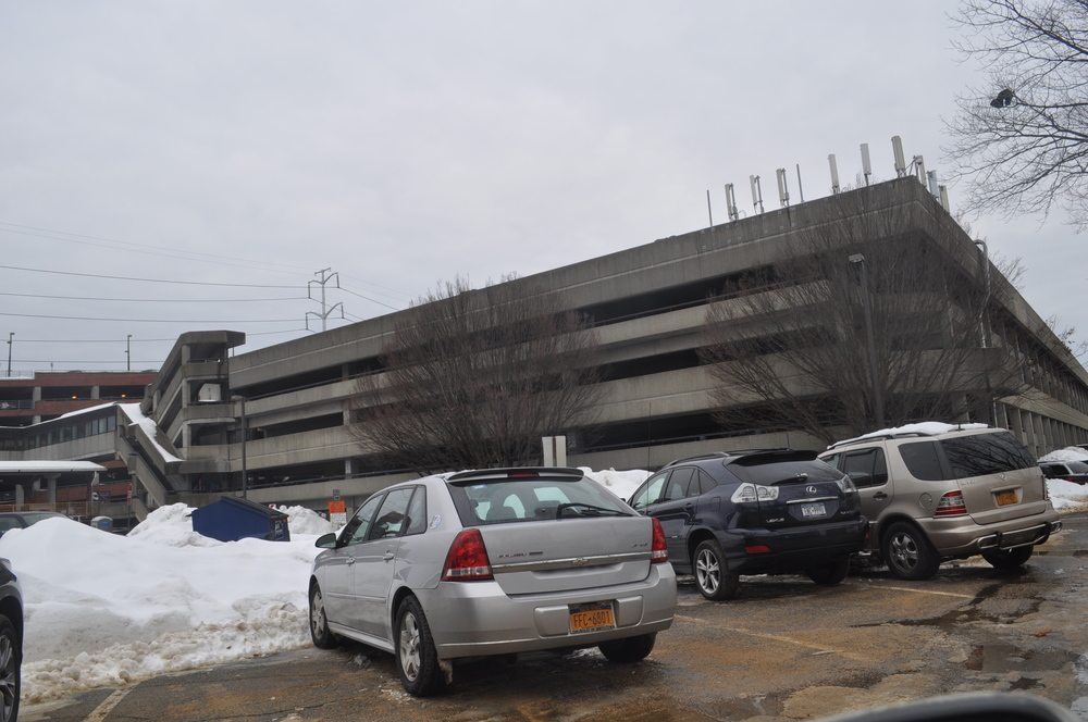Renovations on the south parking garage at the Huntington Long Island Rail Road station are resuming Monday.