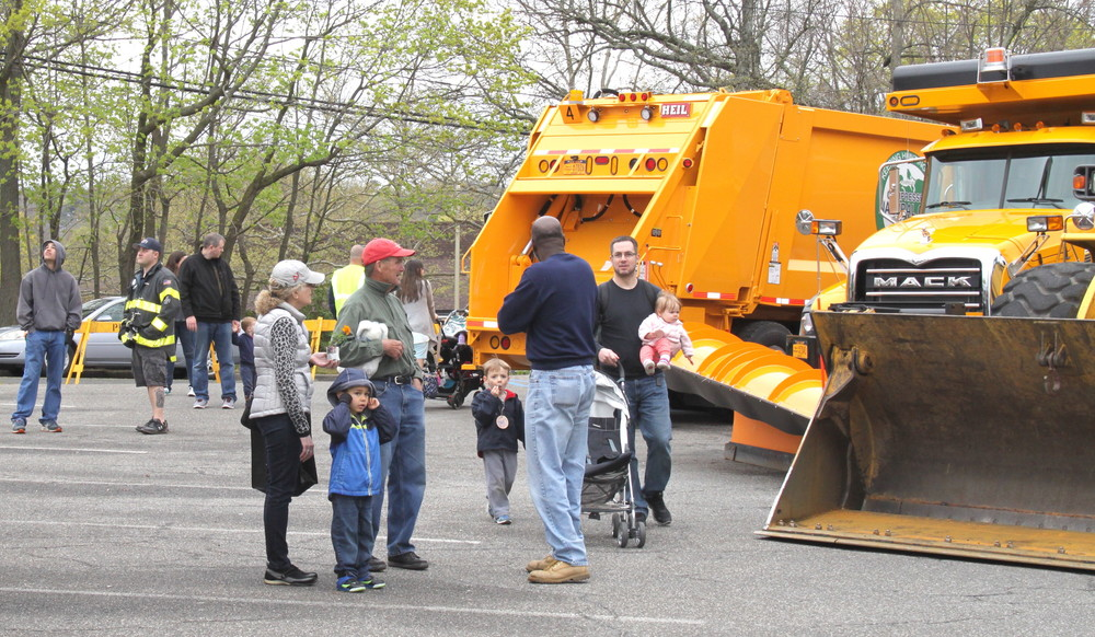 Residents of all ages flooded the Huntington Town Hall parking lot on Saturday to partake in the town's annual Earth Day Expo.