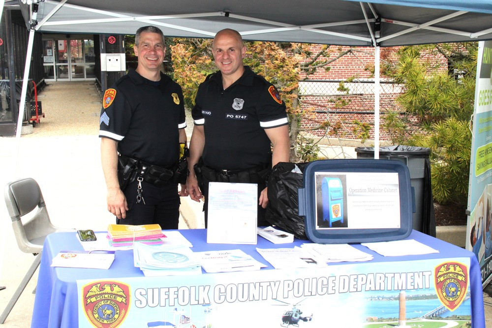 Members of the Suffolk County Police Department were on-site to collect unwanted and unneeded medications for safe disposal thanks to an effort that was co-sponsored by the Citizens Campaign for the Environment.