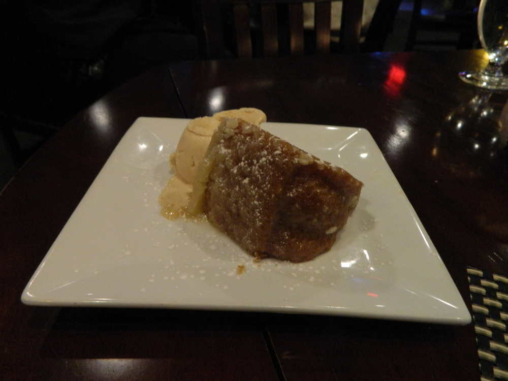 Black & Blue's signature Butter cake dessert is well worth the calories.