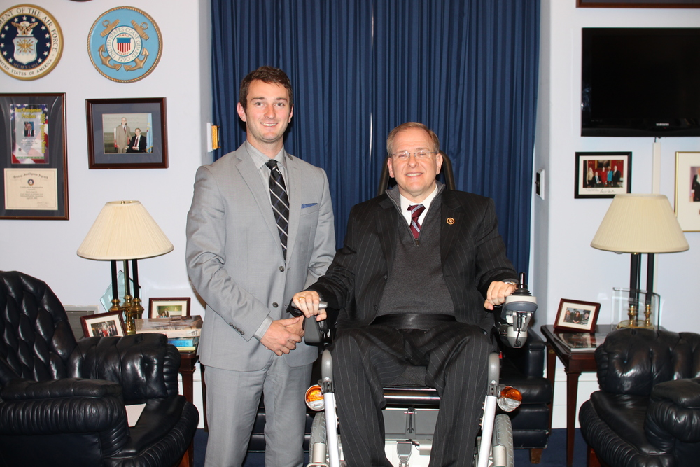 Cory Ryan. a Northport High School grad, has been experiencing day-to-day activities on Capitol Hill as an intern with the office of Rhode Island Congressman Jim Langevin.   Photo courtesy Congressman Jim Langevin