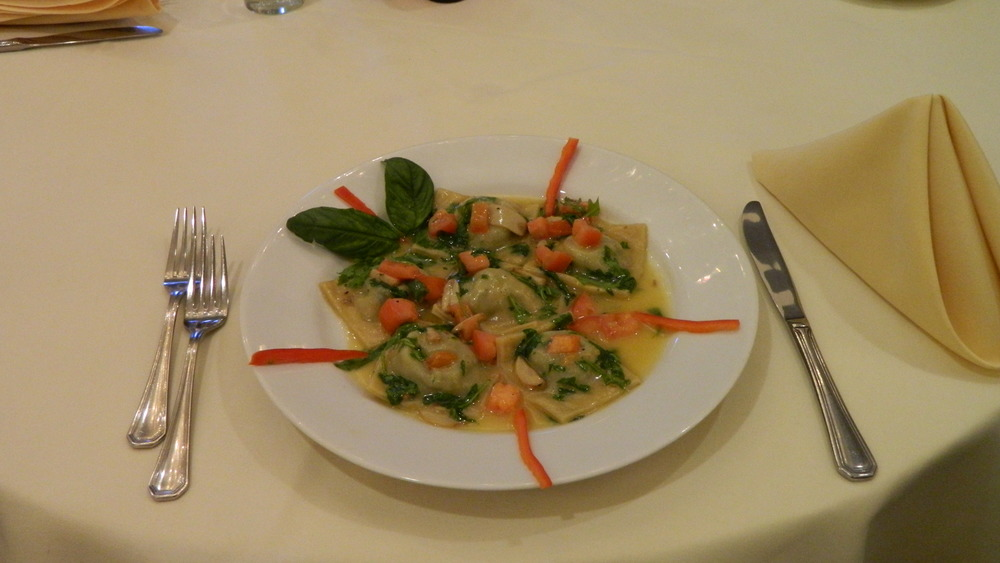 The Ravioli di Rabe at Cinque Terre is the perfect dish for pasta lovers.