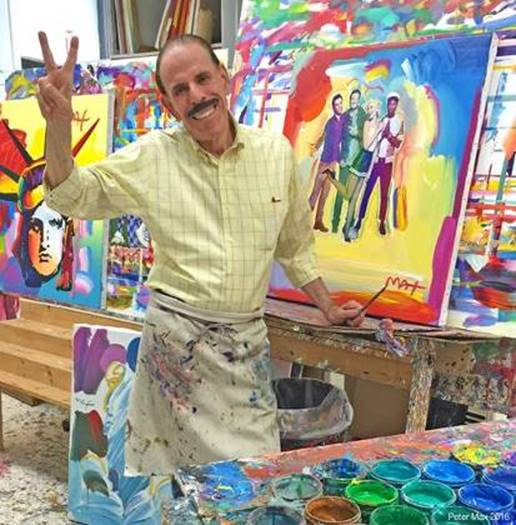 Peter max, iconic pop artist of the 1960s, has donated a painting of Huntington Lighthouse to be sold to raise funds for restoration efforts.