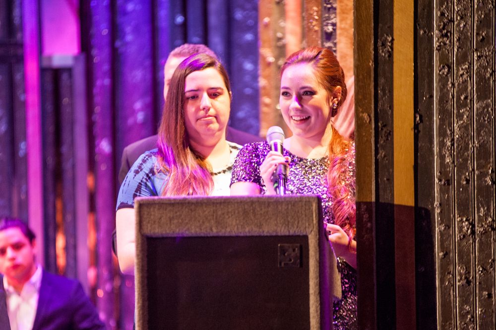 "Nancy Fallon, of Huntington High School, takes home the award for Best Lead Actress in a Musical for her performance as ""Ariel"" in ""The Little Mermaid."""