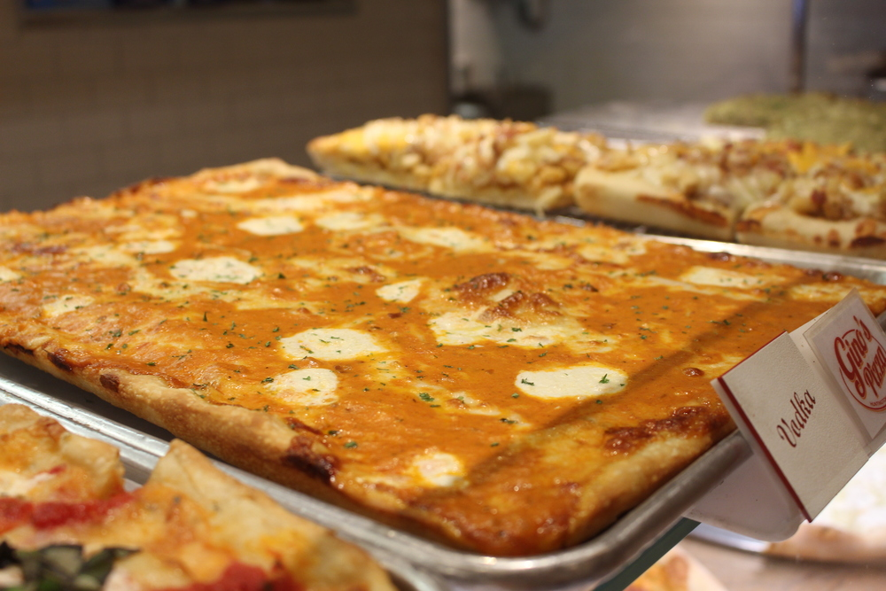 The vodka pizza has become a popular choice among foodies that visit Gino's Pizzeria in downtown Huntington.