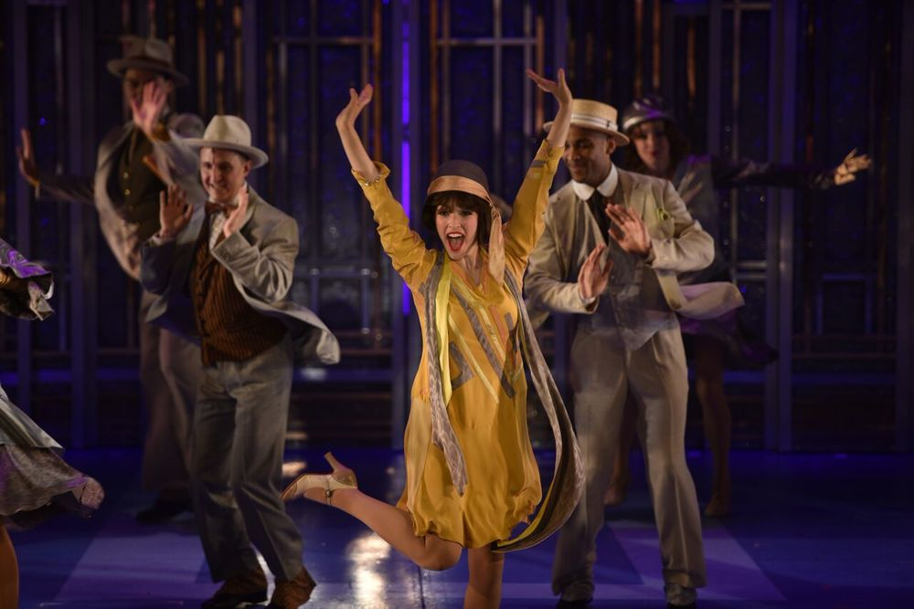 "Tessa Grady (Millie Dillmount) delivers an exciting performance in the opening scene ""Not for the Life of Me"" in John W. Engeman Theater's production of ""Thoroughly Modern Millie."""