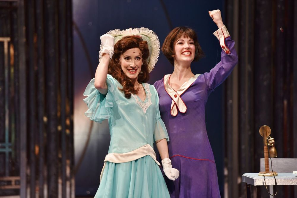 "Sarah Stevens (Miss Dorothy Brown) and Tessa Grady (Millie Dillmount) perform ""How the Other Half Lives"" in John W. Engeman Theater's production of ""Thoroughly Modern Millie."" Photos by Michael DeCristofaro"