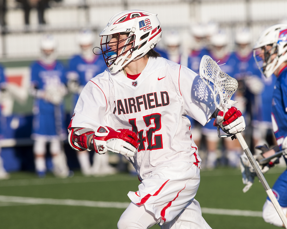 Cold   Spring Harbor graduate Colin Burke is already in the record books at Fairfield University following his freshman lacrosse season.   Photos/Fairfield University Athletics