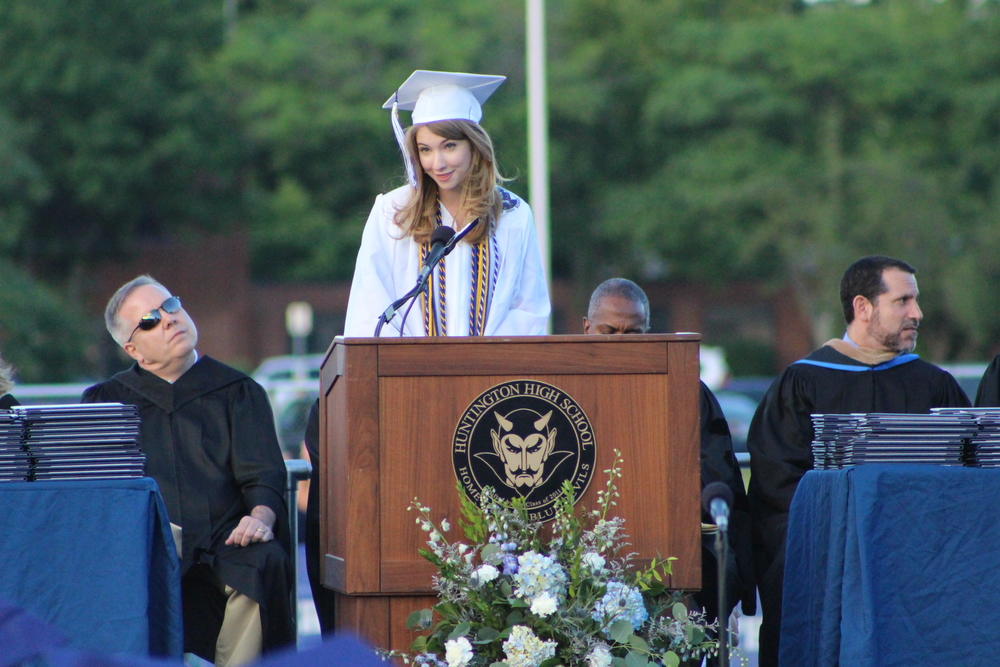 "Valedictorian Rachel Carpenter urges her fellow graduates to ""never forget to hope"" as they enter into a future that is unknown."