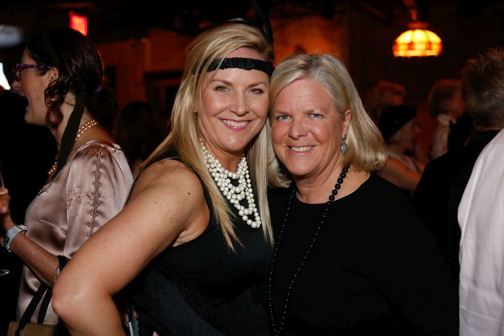 Enjoying the party are Daniel Gale Sotheby's Abby Sheeline, left, and Deborah Hauser, Save the Children Long Island Council board members, and co-chairs of the organization's spring benefit.