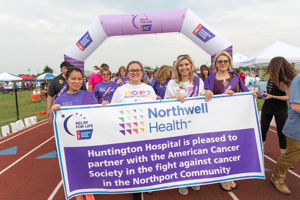 Huntington Hospital recently sponsored Relay for Life events at both Huntington High School and Northport High School.