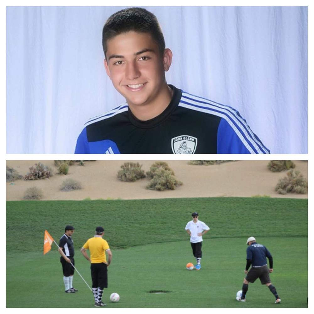 A soccer golf outing in memory of Sean Urda, inset, an East Northport teen who was killed in a 2015 snow tubing accident, is planned for July 23, at the Dix Hills Golf Course.