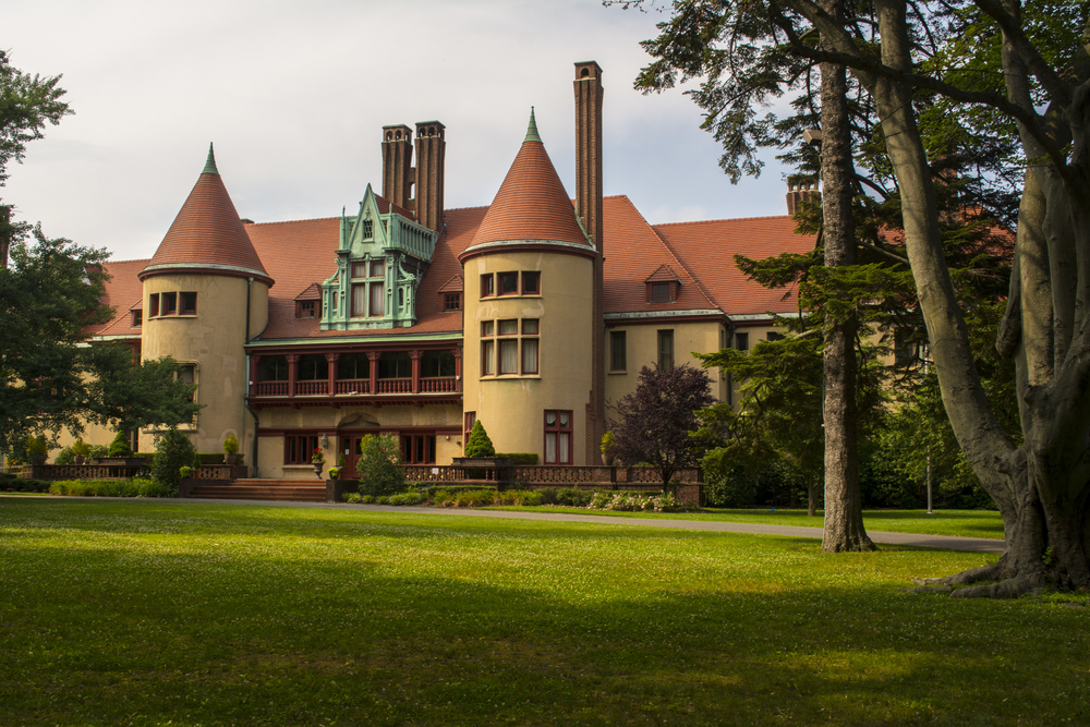 Coindre Hall is one of Huntington's infamous Gold Coast mansions.