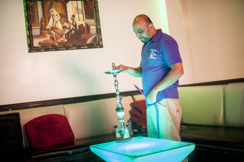 Imran K., manager of the Moonlight Hookah Lounge in Huntington Station, supports the proposed legislation to restrict hookah and vape lounges from the area around parks, playgrounds, schools and religious institutions.