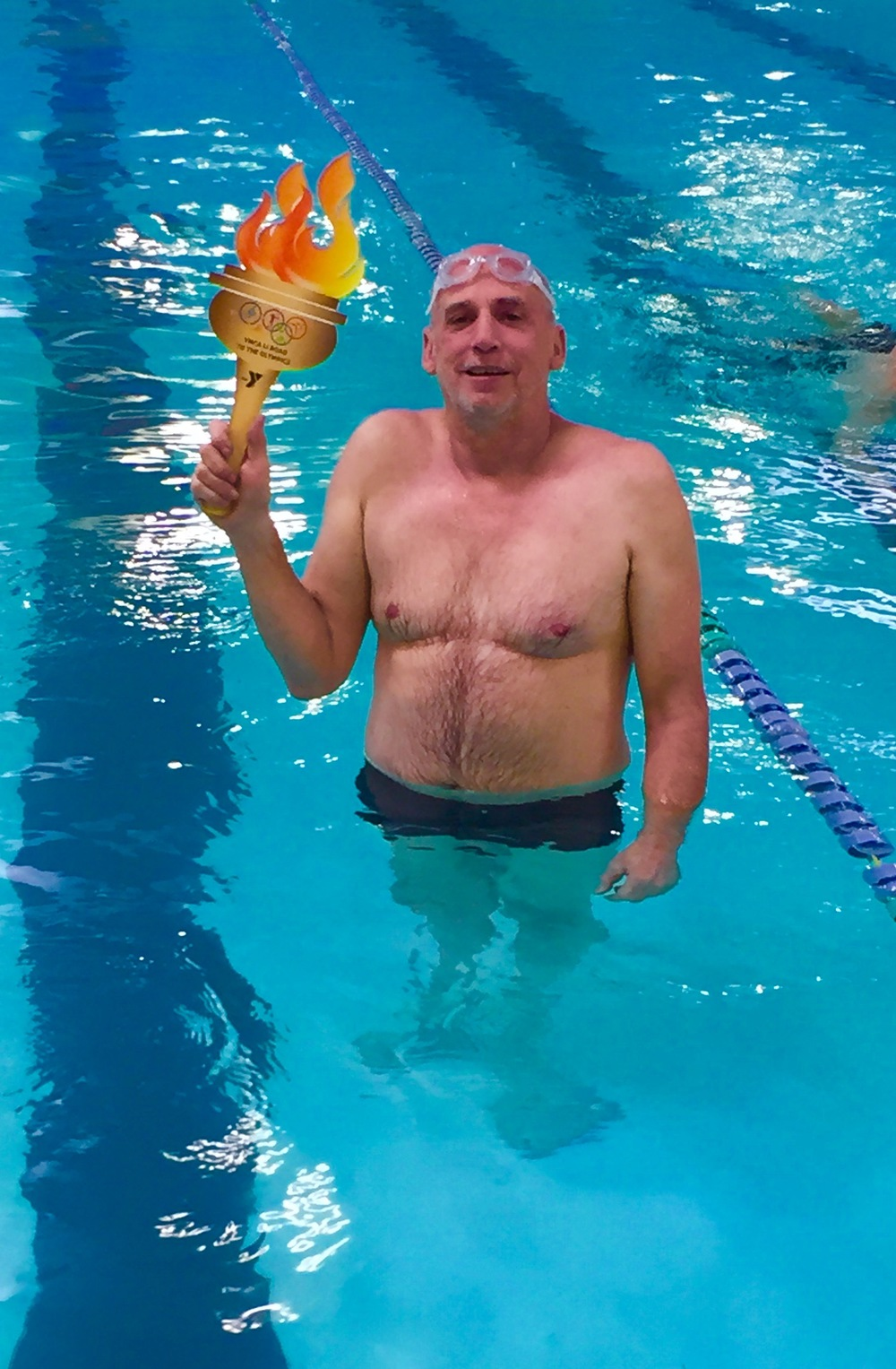 """I am a winner because I swim,"" writes gym member Craig Becker on his ""I Am a Winner"" card. Photos courtesy of Huntington YMCA"