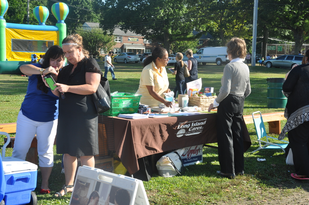 Long Island Cares was one of the many not-for-profits present at the 34th annual National Night Out, which was hosted at Manor Field Park in Huntington Station on Tuesday.