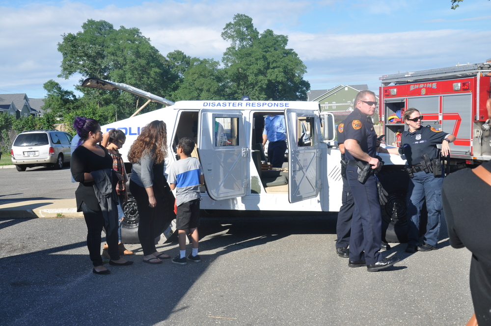 The Suffolk County Police Department had a Humvee on display.