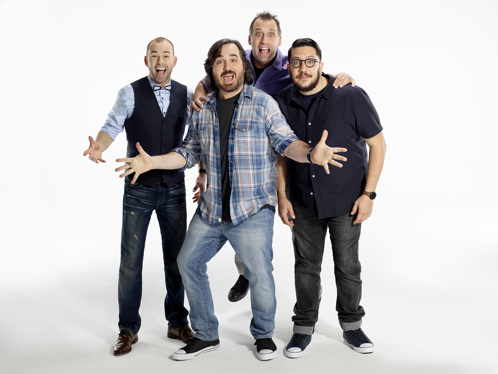"The Tenderloins comedy troupe, star of hit comedy series ""Impractical Jokers,"" hits The Paramount with six performances this weekend. Pictured, from left: James ""Murr"" Murray, Brian ""Q"" Quinn, Joe Gatto and Sal Vulcano."