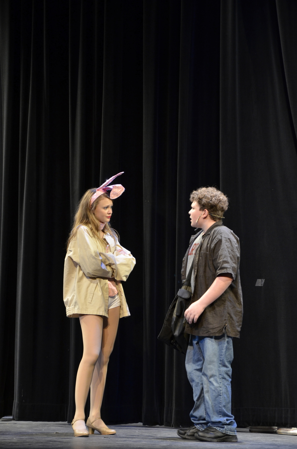 "Julia DeVita, playing Elle Woods, and Ian Schombs, playing Emmett Forrest, in ""Legally Blonde,"" which was produced by From Stage to Screen Performing Arts Academy.  Photo by Iris DeVita"