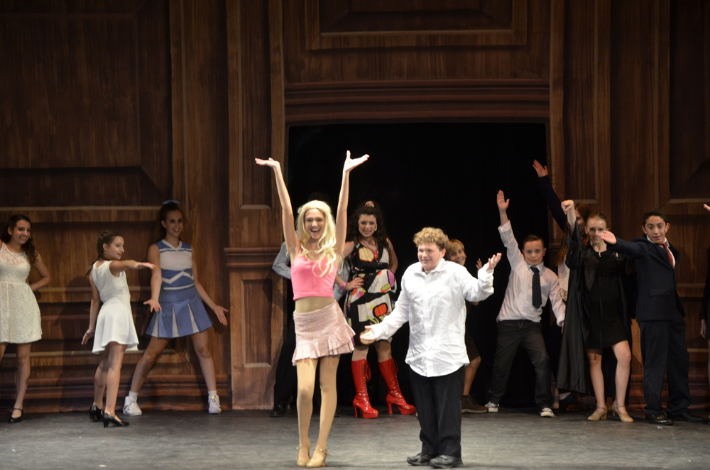 "Sofia Davis also played the lead role as Elle Woods in the Friday night showing of ""Legally Blonde.""  Photo by Iris DeVita"