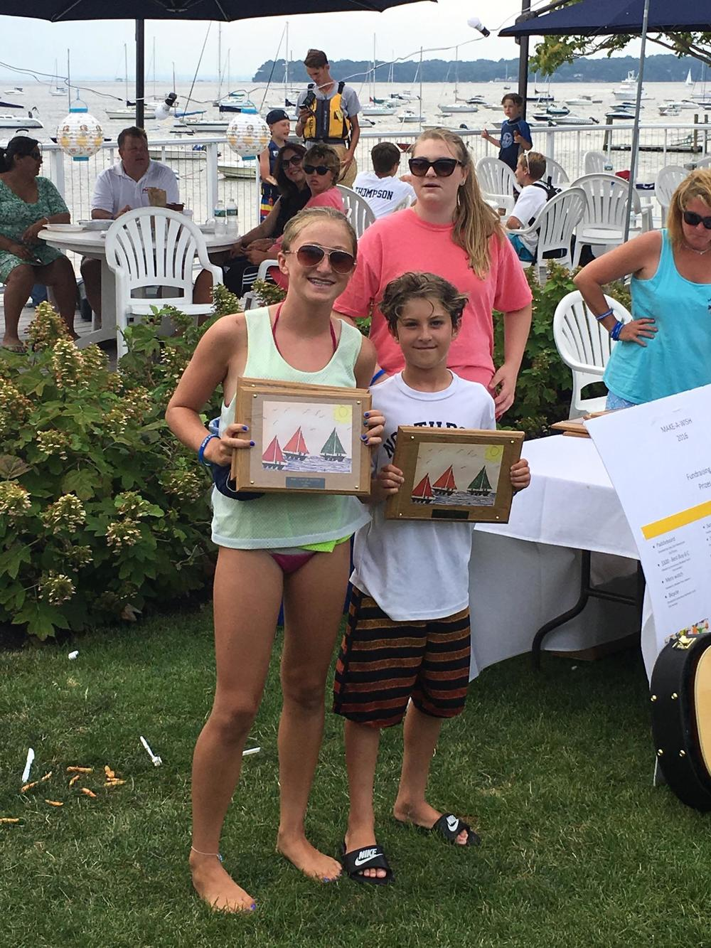 Maggie and Jonathon Kiernan of the Northport Yacht Club snagged first place in the Pixel class race. Maggie and Jonathon Kiernan of the Northport Yacht Club snagged first place in the Pixel class race.