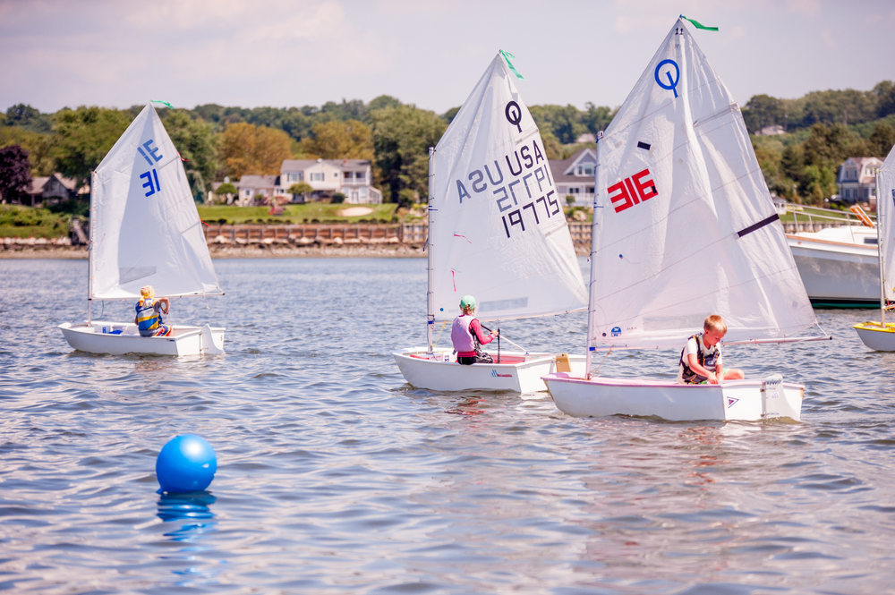 Junior sailors from various yacht clubs converged onto Northport Harbor to race for Suffolk County's Make-A-Wish Foundation.