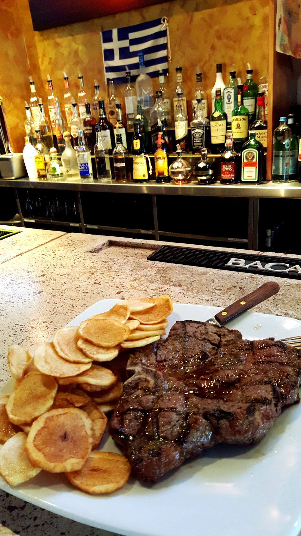 For the meat-and-potatoes set, Neraki's is a simple and straightforward porterhouse with potato medallions.