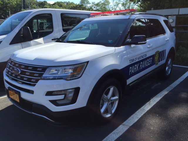 The Town of Huntington's soon-to-be-hired parked rangers are expected to begin their weekend patrols through Huntington Station by Labor Day. They'll make use of town-owned patrol vehicles, such as the one pictured.