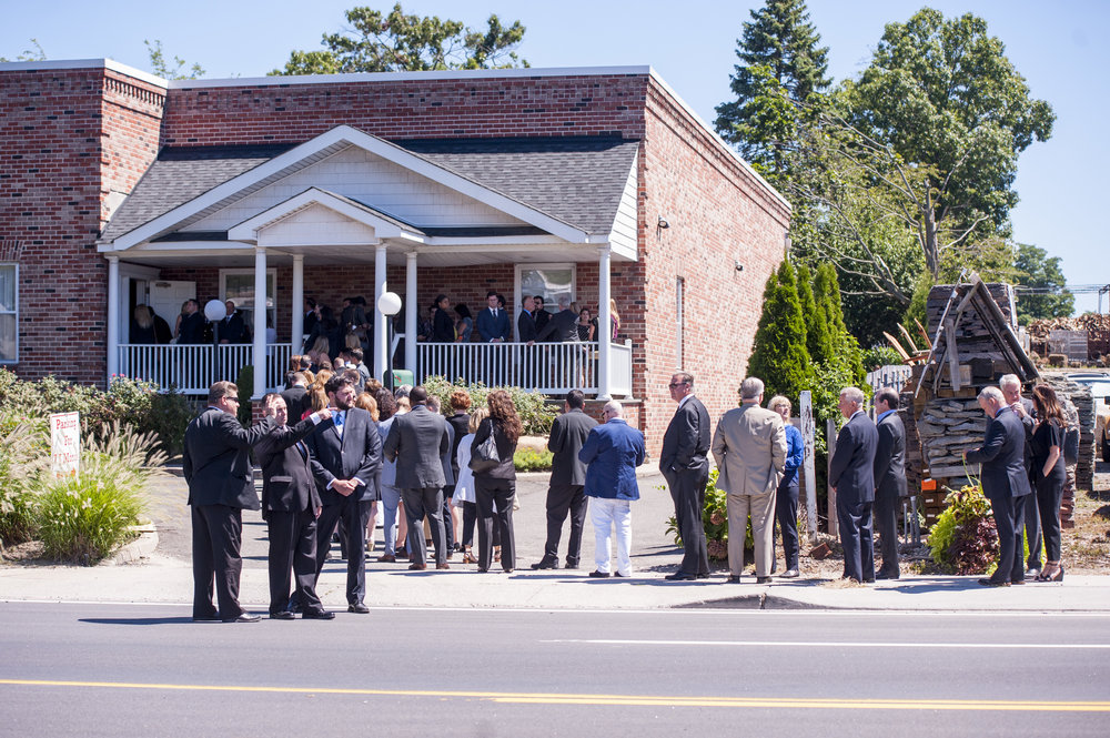 Hundreds gathered to mourn Martella at the I.J. Morris Funeral Home in Dix Hills on Tuesday.