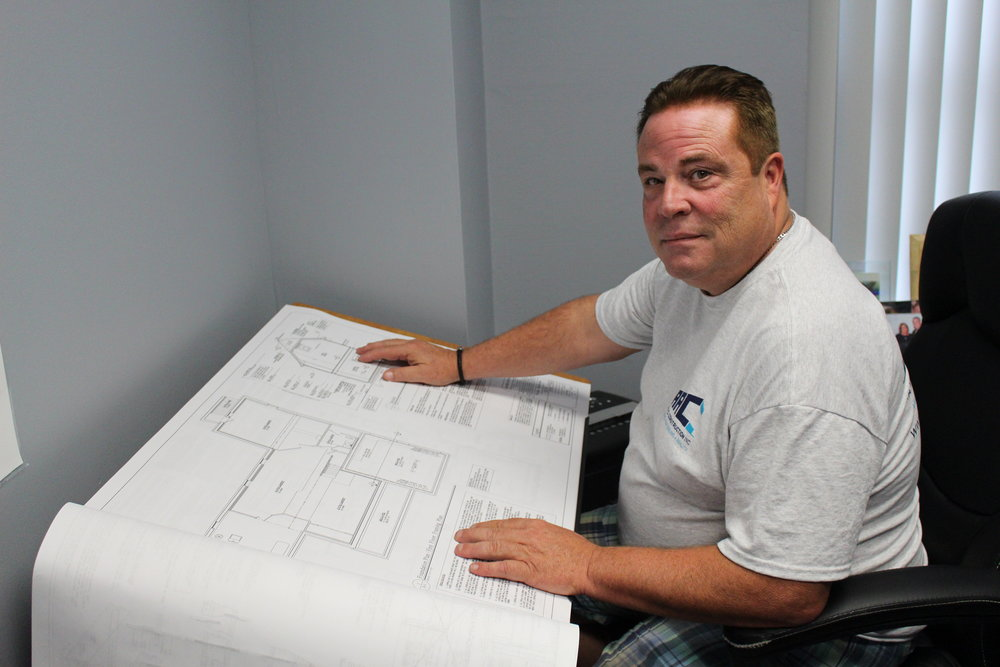 *Long Islander News photos/Janee Law    Bob Didier, owner of Melville-based JARC Construction, has been in the construction business for more than 20 years, but opted to start his own business in 2014.
