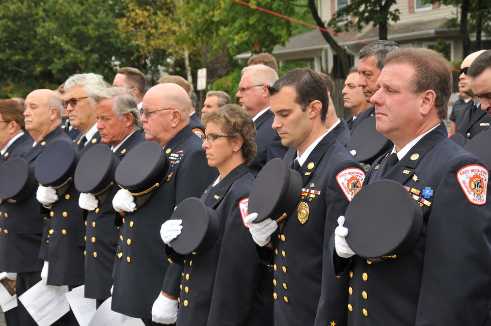 The East Northport Fire Department will be among many departments honoring the 15th year anniversary since the Sept. 11 World Trade Center attacks. (Photo by Steve Silverman)