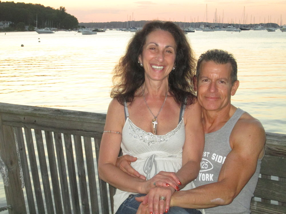 For more than 20 years, Melville's George Baselice, right, has been a personal trainer and nutritionist and is now bringing fitness to a new level with his Senior Sneakers program. He's pictured with wife Carmela, a certified nutritional counselor.  ( *Photo courtesy of George Baselice).