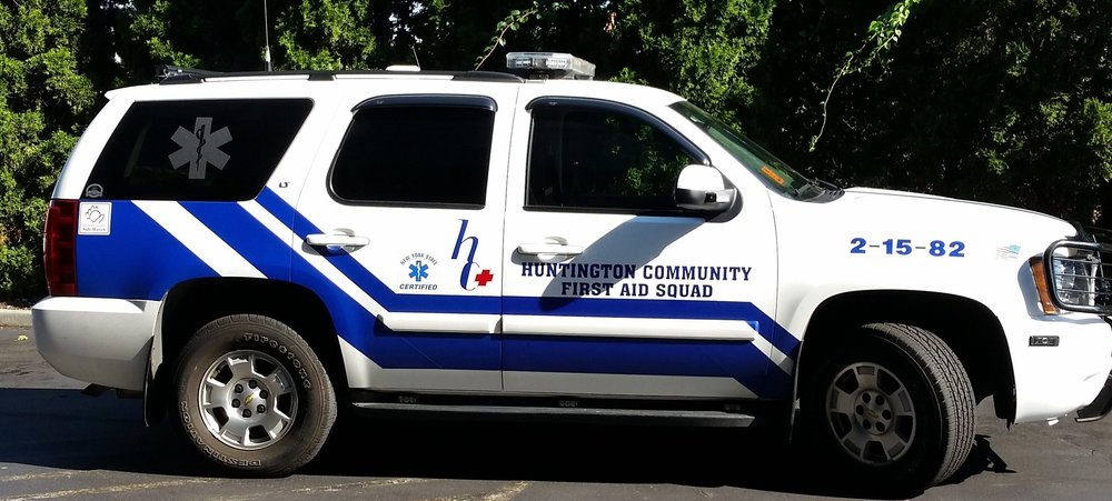 Photo courtesy of Andrew Golinsky Newly-hired paid paramedics of the Huntington Community First Aid Squad are using fly cars, one of which is pictured above, to help cut down the squad's response time for emergency calls.