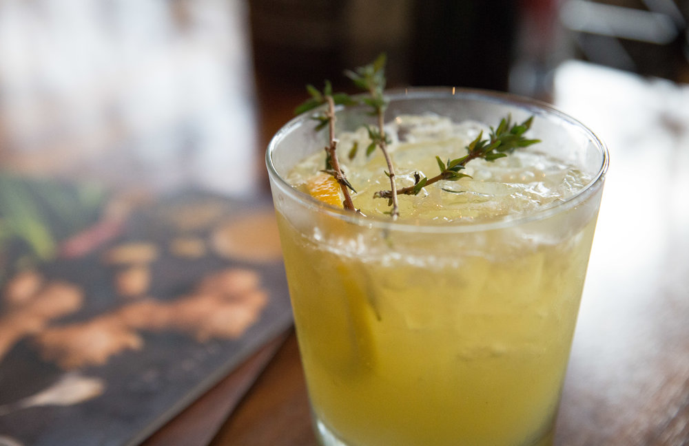 Long Islander News photos/Craig D'Andrea The Honey Thyme G&T is no ordinary gin and tonic. It features Plymouth Gin shaken with a refreshing honey water and hand-squeezed lemon juice.  It's made with Fever Tree tonic water and topped with a sprig of thyme.
