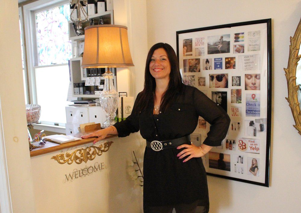 Long Islander News photo/Janee Law   Deborah Kiley, owner of The Emerald Door Salon & Day Spa in Huntington village, has accomplished her childhood dream, which she said was to own her own salon business.