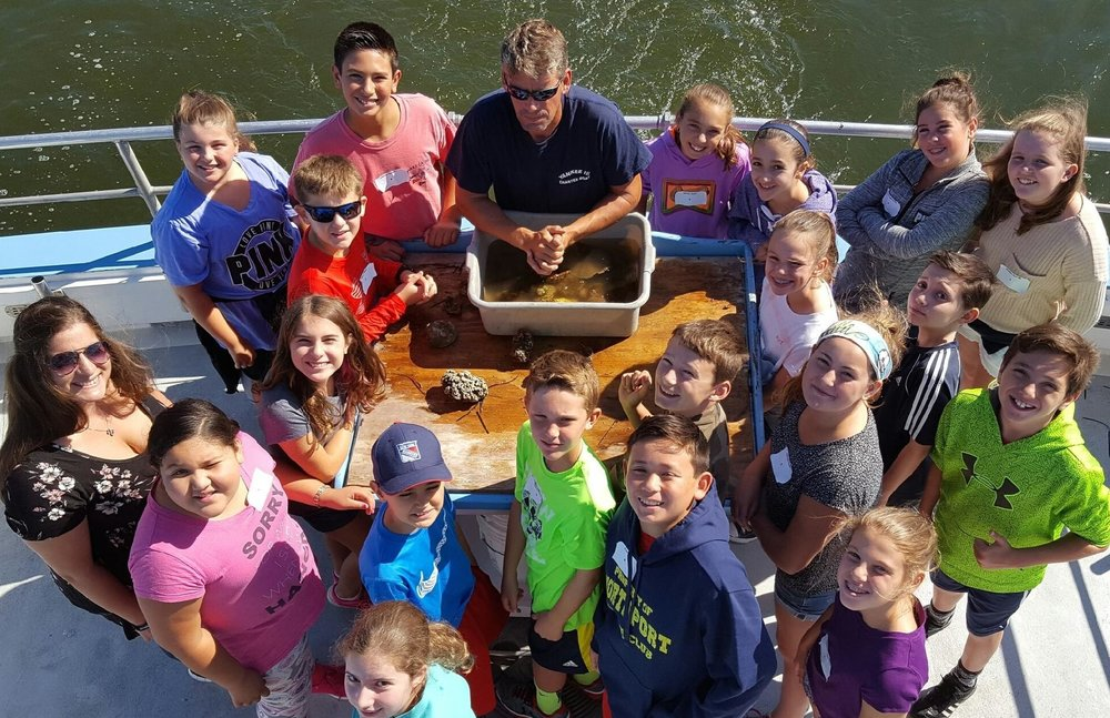 Photo by the Northport-East Northport School District With 228 sixth graders attending the Great South Bay Investigation field trip, students were able to learn about oceanography and hydrology outside the classroom.